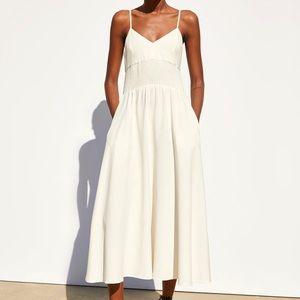 Zara linen rustic dress
